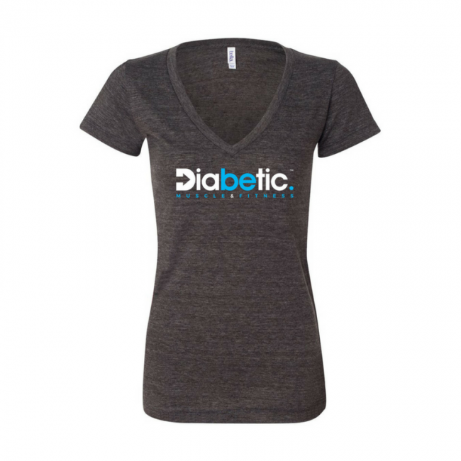 Female Diabetic Muscle and Fitness Tee